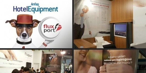 Wireless Charging for hotels - FluxPort of presents: Exhibition Anfas Hotel Equipment